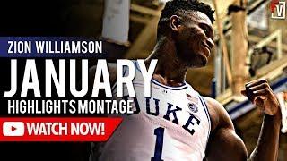 Zion Williamson Duke January Highlights Montage 2018 -19 Season (Part 3)  - 25.3 PPG!