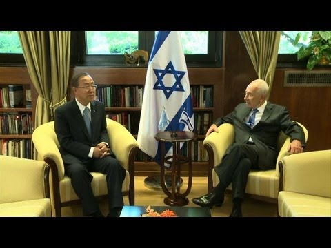Négociations de paix: Ban Ki-moon rencontre Shimon Peres