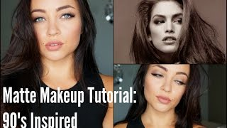 Matte Makeup Tutorial: 90's Inspired Thumbnail