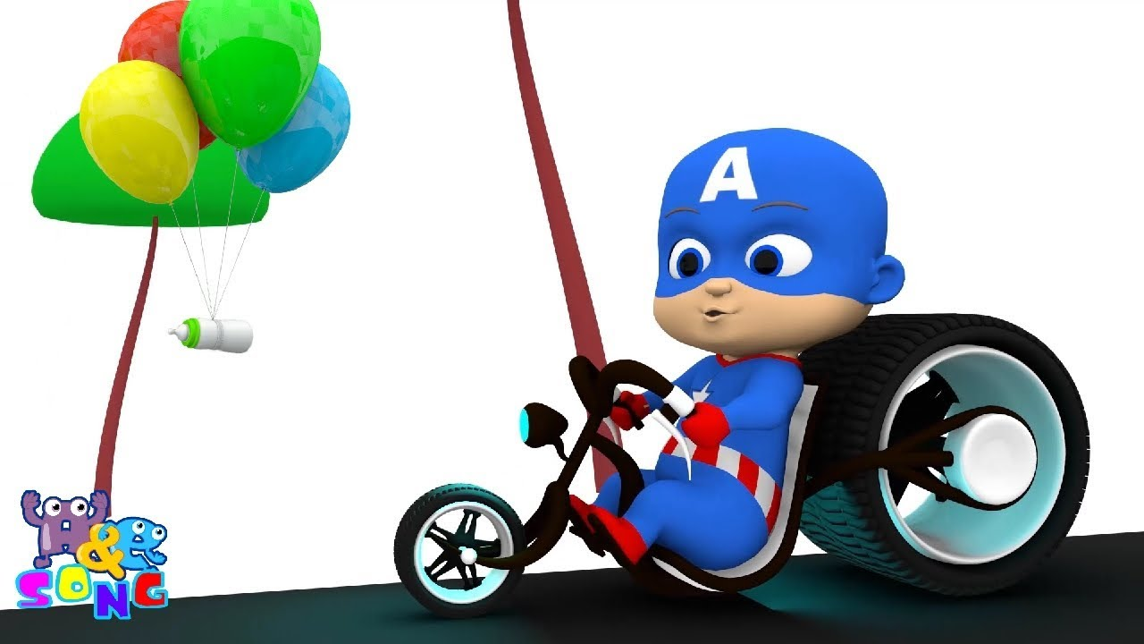 Baby Captain America With Bottle Of Milk Funny Cartoon Baby Animation For Kids Youtube