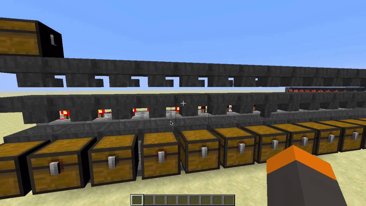 Minecraft Auto Storage System Tutorial Works In 1 8