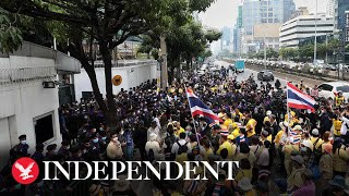 Thai demonstrators protest against King Maha Vajiralongkorn