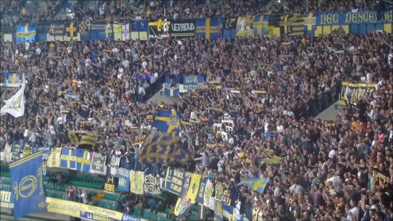 Hellas Verona - Livorno 2-1: Tifo Curva Sud Verona. - YouTube