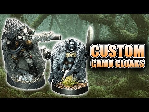 How To Make Camo Cloaks For Your Miniatures Ghillie Suit
