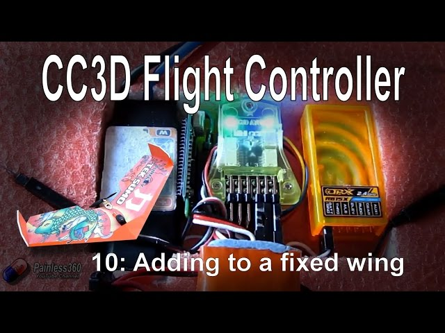 (10/10) CC3D Flight Controller - Adding to a flying wing or plane