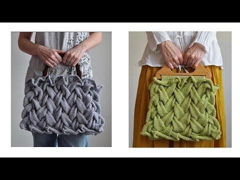 Cable knitting patterns. Knitting Bag.