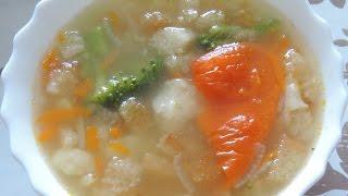 Постный рисовый суп с овощами. Вкусно и полезно.