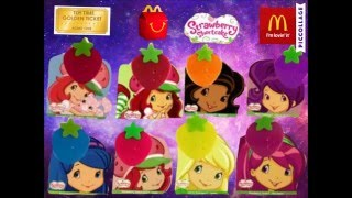 Full Virtual set of Strawberry Shortcake 2009 Mcdonalds Happy Meal Toys Tickets To Toy Time