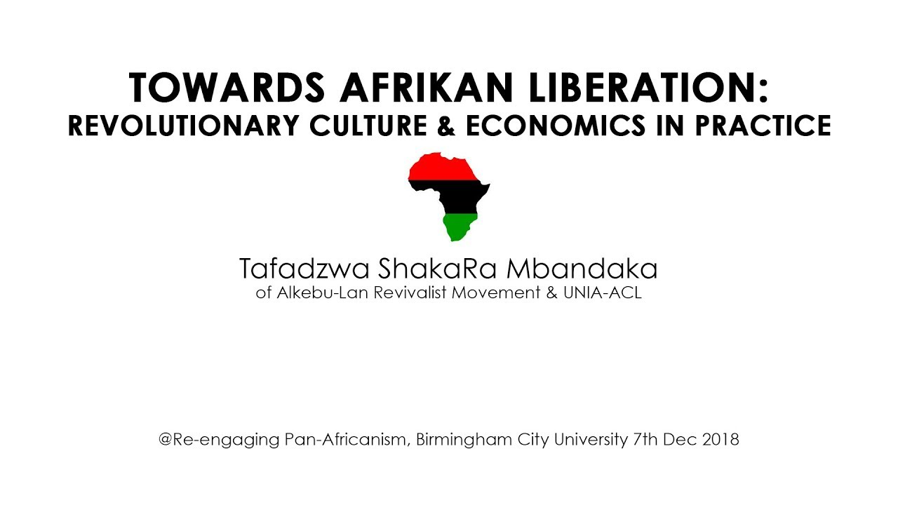 Afrikan Liberation, Culture & Economics - ShakaRa (Re-Engaging Pan-Africanism)