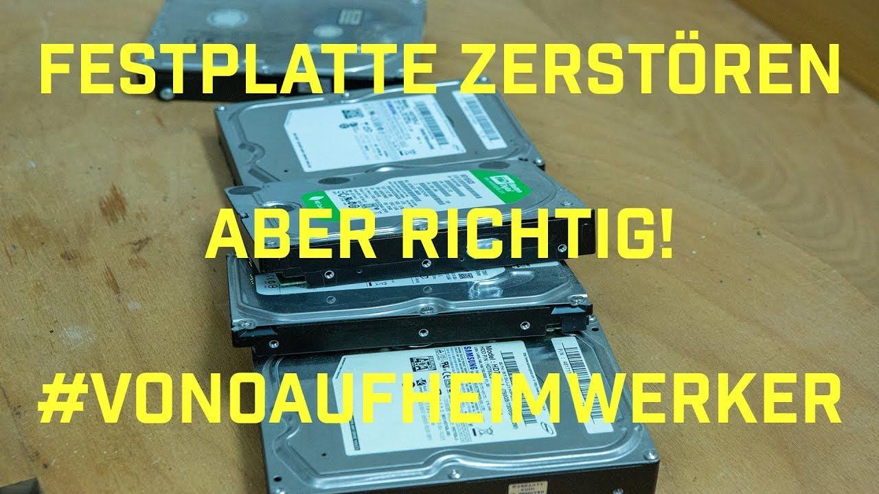 Festplatte Vernichten