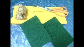 Amazing idea!!!  DIY using jute and waste fabric bags| Fabric bag craft| Best out of waste