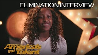 Elimination Interview: Flau'jae Recalls Her Favorite AGT Memories - America's Got Talent 2018