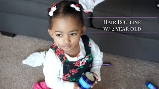 NATURAL HAIR | Hair Routine w/ 2 year old featuring IMBUED