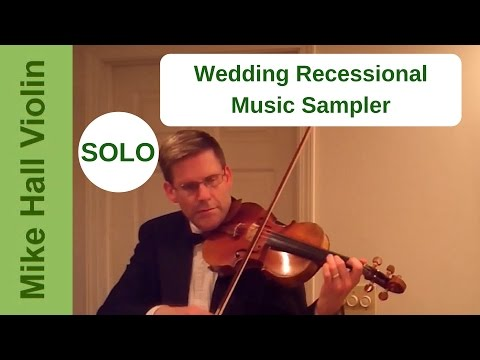 Wedding Recessional Music Sampler