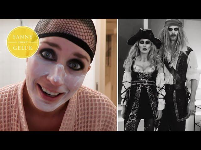 Haha 😂Wat een Halloween amateurs zijn wij! Ik maak Jorg op | Sanny zoekt Geluk