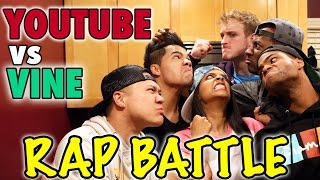 YouTube vs Vine - RAP BATTLE! (ft. King Bach, DeStorm, Logan Paul, Timothy DeLaGhetto & D-Trix) Thumbnail