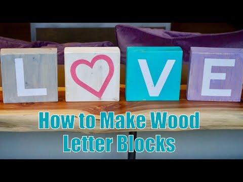 Simple DIY Wood Letter Blocks