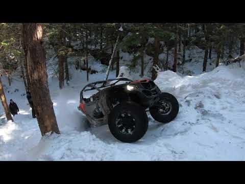 Can am x3, Yamaha yxz , Polaris rzr winter ride, axle breaking full send !