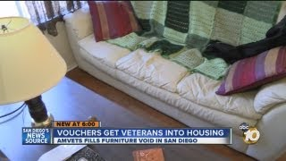 AMVETS helping formerly homeless veterans with a home: Charity giving veterans furniture