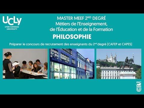 Master des Métiers de l'Enseignement, de l'Éducation et de la Formation, mention Philo