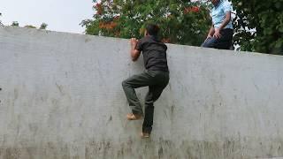 Climbing on 10 Feet Height Surmounting Wall