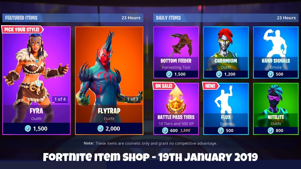 Fortnite Item Shop - Today January 19th 2019 - New Flux ...