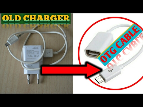 How to make OTG cable from an old charger less than 10 min.