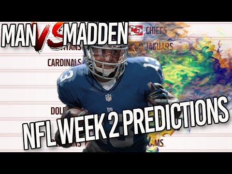 Predicting Every NFL Week 2 Winner | MAN vs MADDEN 2017... Do You Agree?