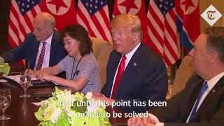 Trump and Kim Jong-un sit down for bilateral talks at the historic summit