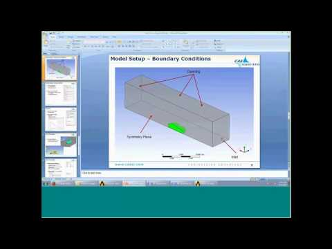 Predicting Fluid Force & Drag with ANSYS CFD | CAE Associates | e-Learning