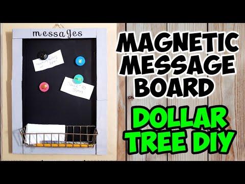 Magnetic Message Board / Dollar Tree DIY