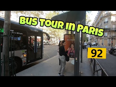 Bus Tour In Paris :  Ligne 92