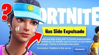 I'm kicked out of the game for using hacks in Fortnite...?
