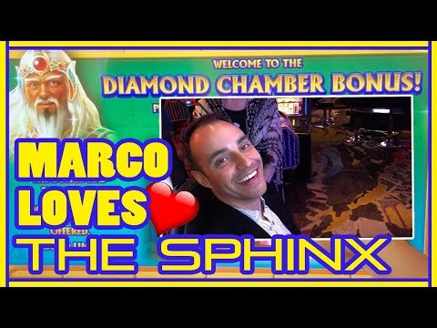 MARCO 💗's The Sphinx 4D Slot Machine ⭐HUGE WIN⭐ Slot Machine Pokies w Brian Christopher
