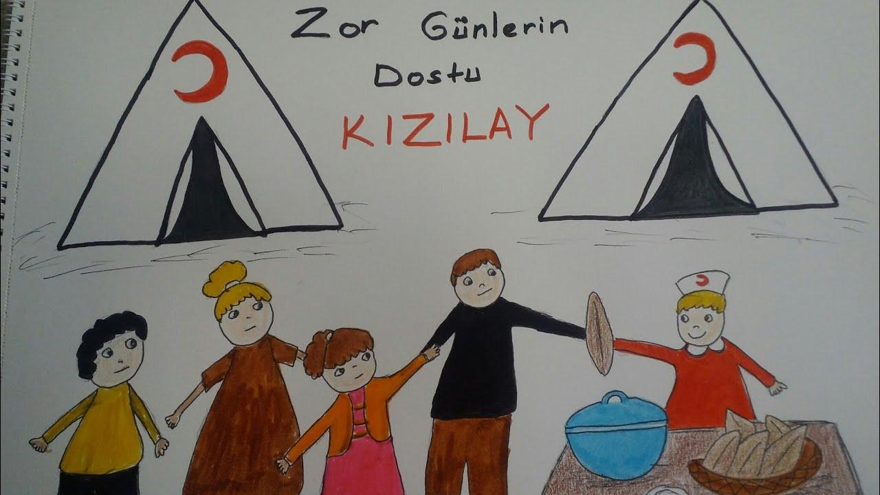 Kizilay Haftasi Cizimi 1 Youtube
