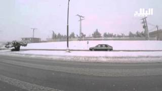 الثلوج اليوم في ولايتي سطيف و برج بوعريريج  ... شاهد   -el bilad tv -