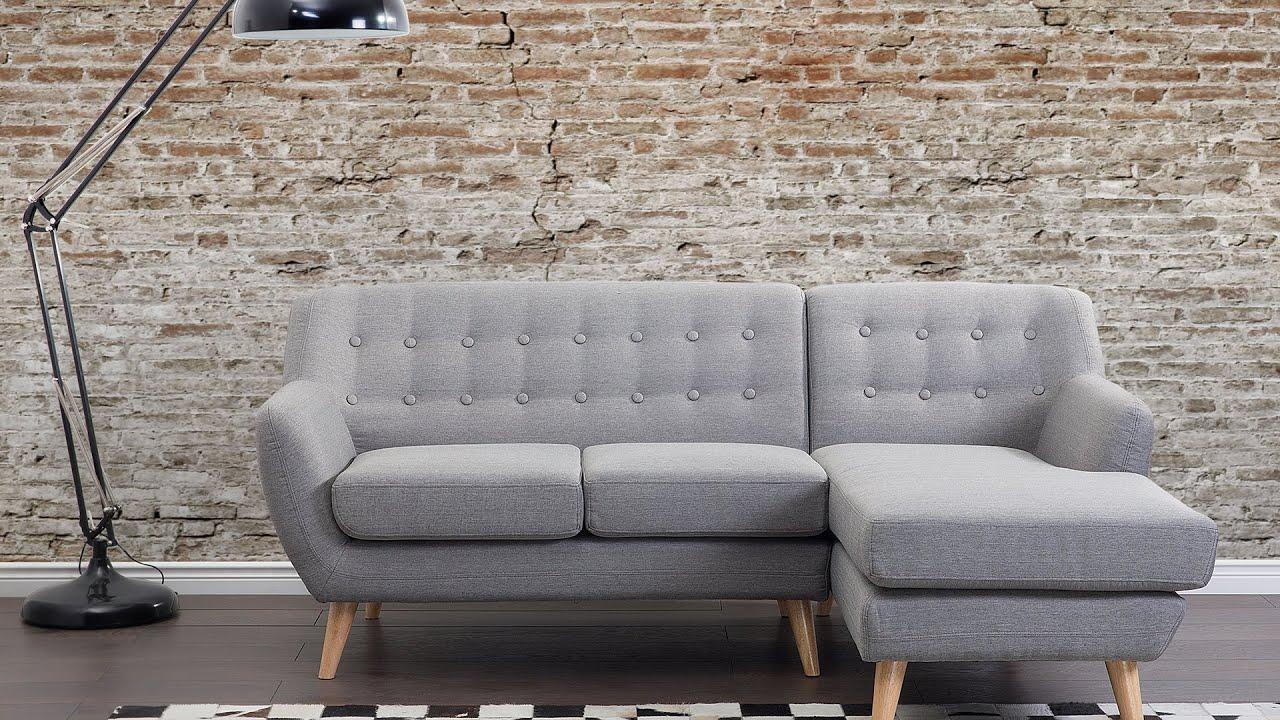 Canapé angle en tissu gris clair MOTALA | Beliani.ch
