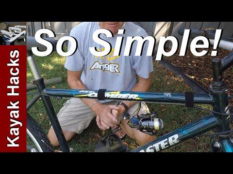 Bike Fishing - How To Carry A Fishing Rod On A Bike - 2 Options