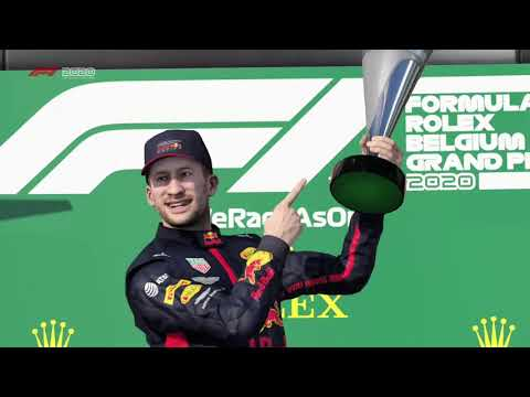 F1 2020 career mode, season 2, final 2 laps at spa franchorchamps, driving for red Bull racing |