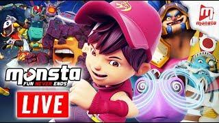 🔴 Monsta TV LIVE 24/7! – (BoBoiBoy Galaxy, Om Nom Stories, Impian REMI)