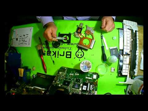 HP dv6 cpu fan cleaning thermal paste change