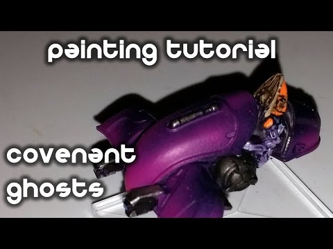 How To Paint Covenant Ghosts - Halo Ground Command