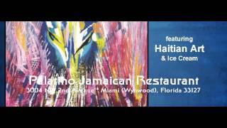 Palatino Jamaican Restaurant - 3004 NW 2nd Avenue - Miami (Wynwood) Florida features Haitian Art