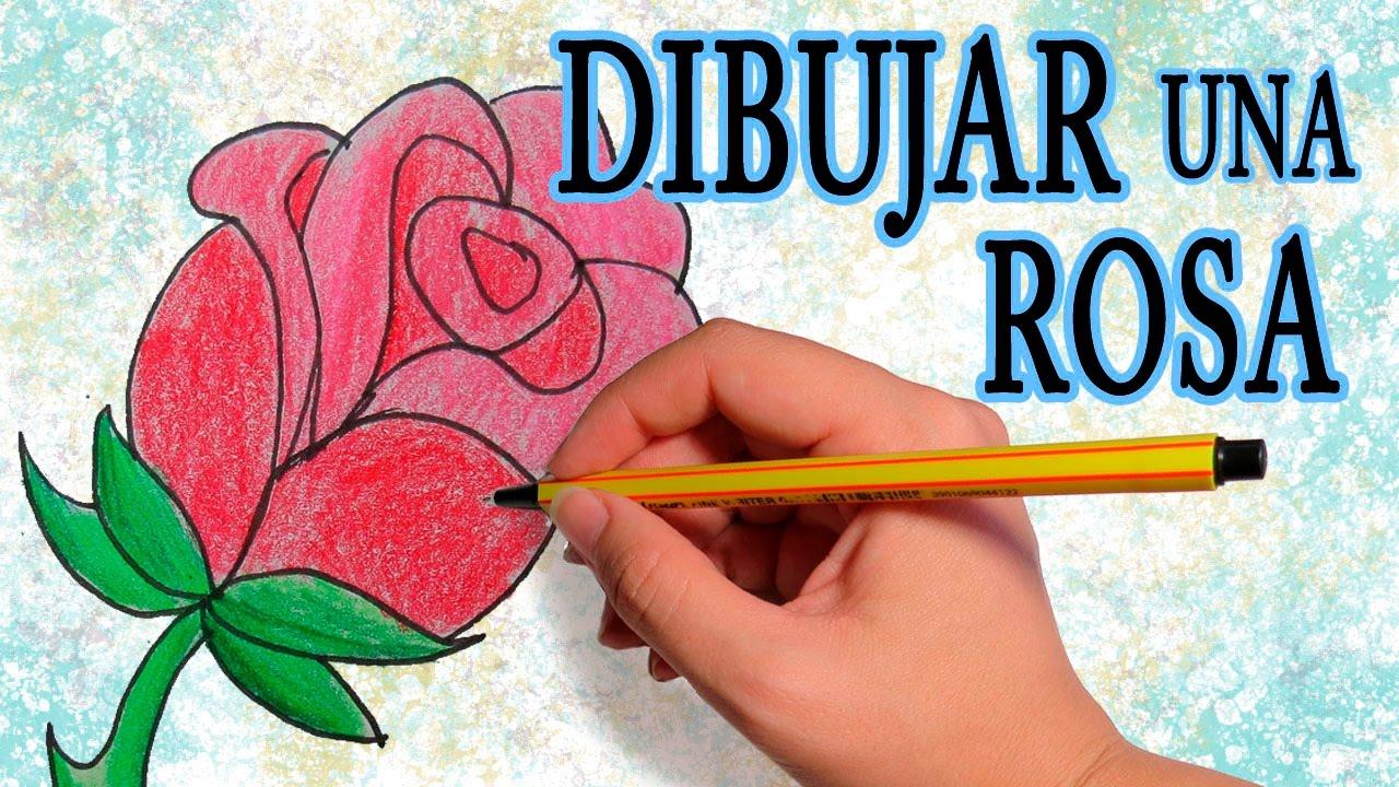 Como Dibujar Una Rosa Facil Paso A Paso Para El Dia De La Madre A