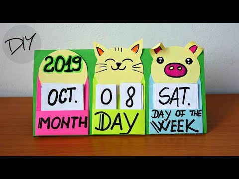 How to make a 2019 desk calendar | Fun and easy crafts for kids | Maison Zizou