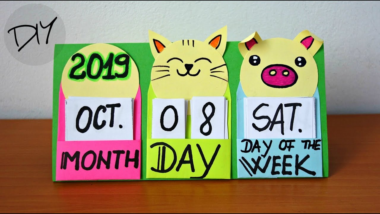 Calendar Ideas For Children To Make : How to make a desk calendar fun and easy crafts for