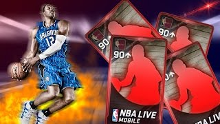 CRAZY 90+ THROWBACK SETS!!! EPIC 93 OVR PULL!!! | NBA LIVE MOBILE PACK OPENING
