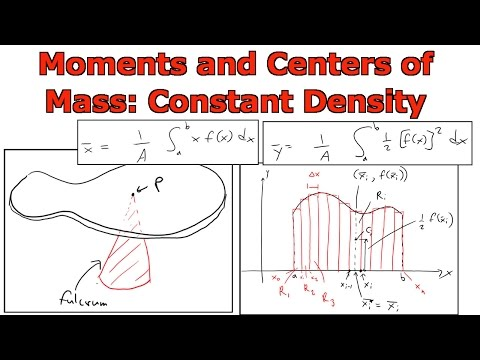 Moments and Centers of Mass: Constant Density