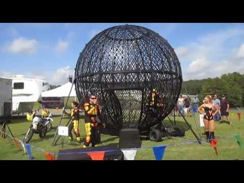 Globe of Death show at Barber Vintage Motorsports Festival 2014