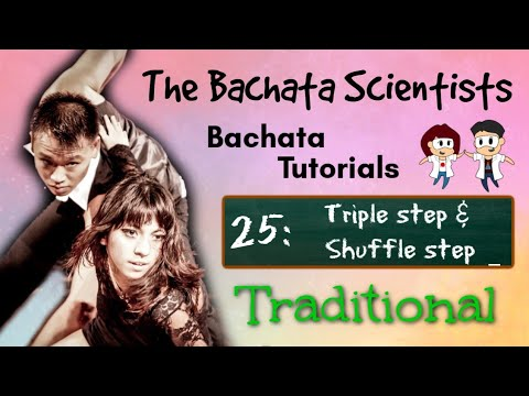 Learn Bachata, Tutorial 25: Triple step and Shuffle step (improver traditional) thumbnail